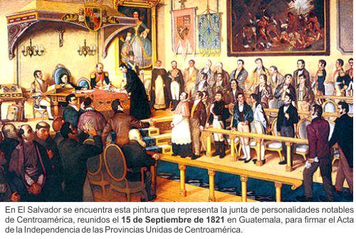 Independencia de El Salvador (resumen)