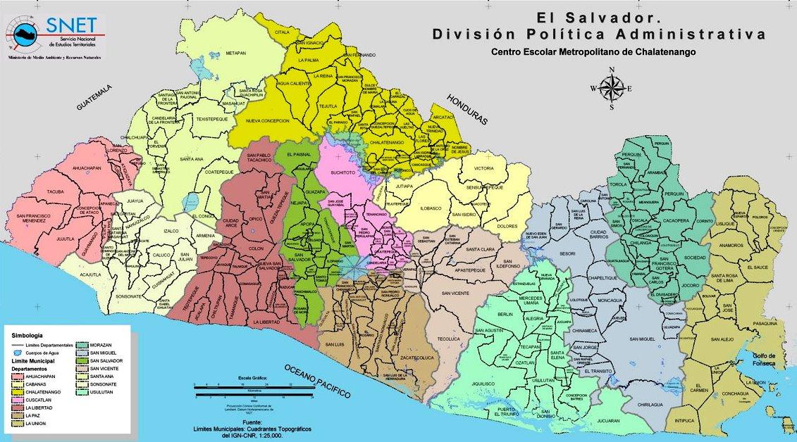 Departamentos de El Salvador y sus municipios
