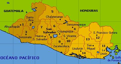 Zonas geográficas de El Salvador