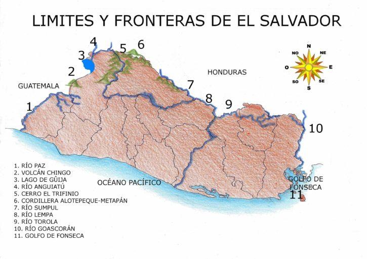 aprende de las fronteras terrestres de el salvador